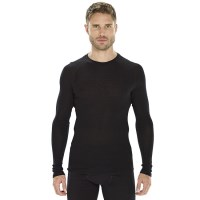 ioMerino Vital Mens Long Sleeve Thermal Top - Black