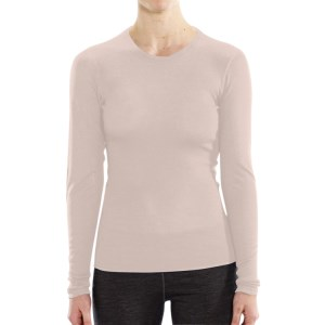 ioMerino Vital Womens Long Sleeve Thermal Top - Pearl