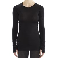 ioMerino Altitude Womens Thermal Base Layer Long Sleeve Top - Black