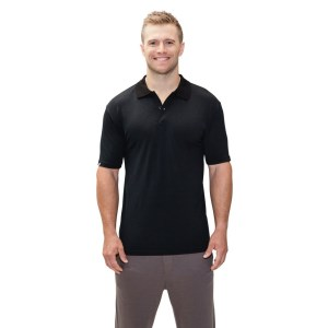 ioMerino Condor Mens Polo Shirt - Black