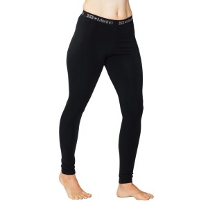 ioMerino Chaser Womens Midweight Leggings - Black
