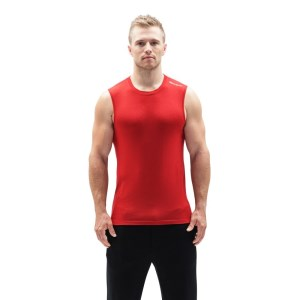 ioMerino Altitude Mens Base Layer Tank Top - Red