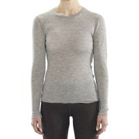 ioMerino Vital Womens Long Sleeve Thermal Top - Grey