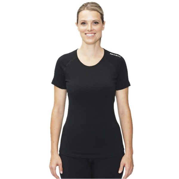 ioMerino Altitude Womens Active Base Layer T-Shirt - Black