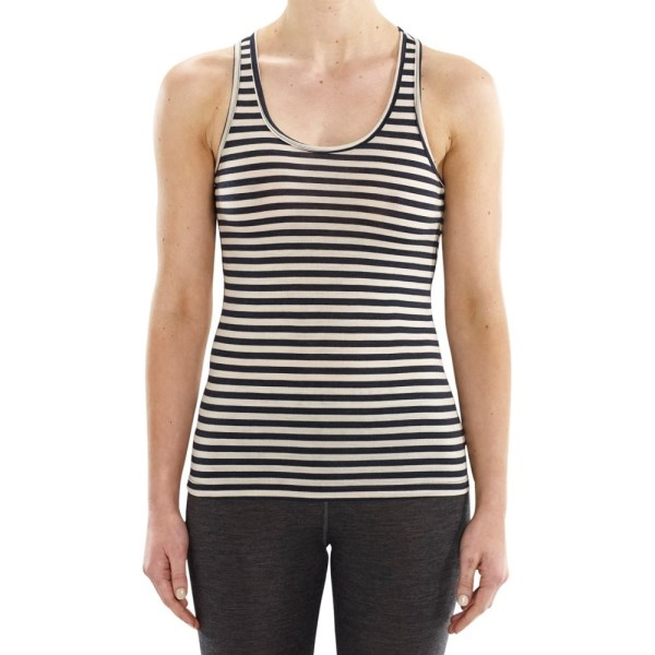 ioMerino Ascender Womens Base Layer Tank Top - Stripe