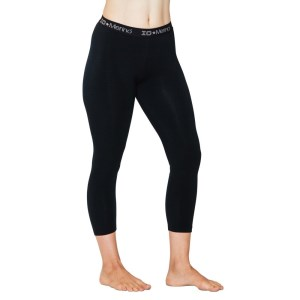 ioMerino Chaser Womens 7/8 Midweight Leggings - Black