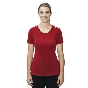 ioMerino Altitude Womens Active Base Layer T-Shirt - Red