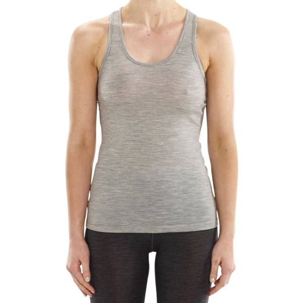 ioMerino Ascender Womens Base Layer Tank Top - Grey Melange