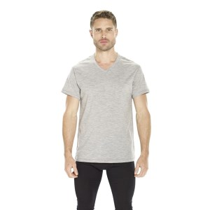 ioMerino Pacer Mens Mid Layer T-Shirt - Grey Melange