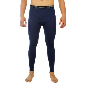 ioMerino Altitude Mens Base Layer Full Thermal Tights - Navy Blue