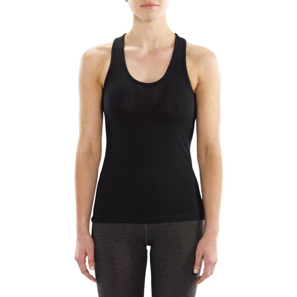 ioMerino Ascender Womens Base Layer Tank Top - Black