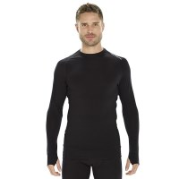 ioMerino Altitude Mens Thermal Long Sleeve Top - Black