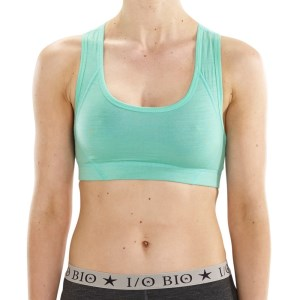 ioMerino Zodiac Womens Razor Back Crop Top - Waterfall