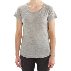 ioMerino Zone Womens Short Sleeve T-Shirt - Grey Melange